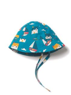 Sail Away Sunhat. Sail away in our new summer sunhat. Made from high quality, Organic and Fairtrade certified Cotton Interlock Sail Away, Beach Holiday, Spring Collection, Sun Hats, Boy Or Girl, Organic Cotton, Sailing, Green, Boys