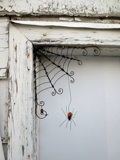 Delicate Orange Spider Dangles From 12  Barbed by thedustyraven, $51.00