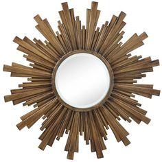 sunburst mirror - w/wood shims