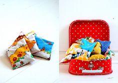 kuffert med ærteposer