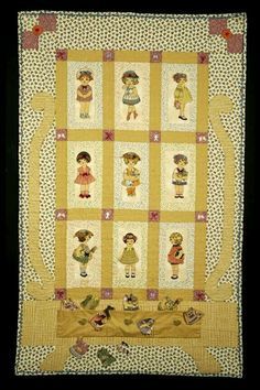 Mini Quilts, Baby Quilts, Children's Quilts, Dolly Dress Up, Quilting Projects, Quilting Ideas, Doll Quilt, Applique Quilts, Vintage Quilts