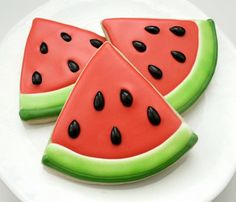 Cookie Decorating - watermelon