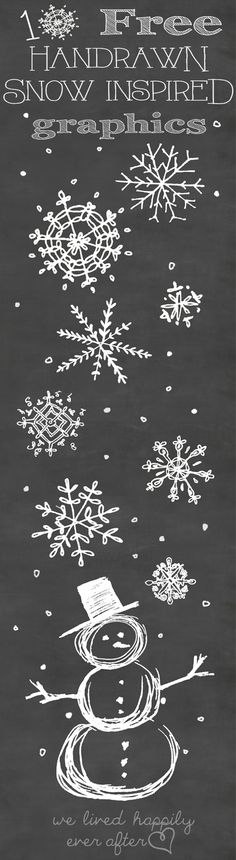 Snowflake Graphic Freebies from www.welivedhappilyeverafter.com