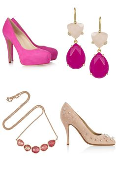 Wedding Accessories For The Bride | pink wedding accessories for the girly bride | OneWed.com