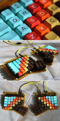 Beautiful :: ErgoDox, Acrylic case and 1976 keyset