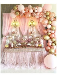 LIMITED TIME OFFER!!! Free Shipping anywhere in USA. Ships in 1-2 days. Buy NOW!!! Check out my store for matching products. WARNING: CHOKING HAZARD Children under 8 yrs. can choke or suffocate on uninflated or broken balloons. Adult supervision required. Keep uninflated balloons from children. Pink And Gold Birthday Party, Elegant Birthday Party, 15th Birthday Party Ideas, Princess Birthday Party Decorations, Party Wedding, Pink Gold Party, Birthday Table Decorations, 15 Birthday, Birthday Candy