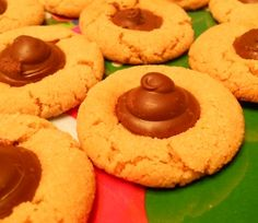 """Peanut butter cookies with """"kisses"""" - Ricky used to love these!"""