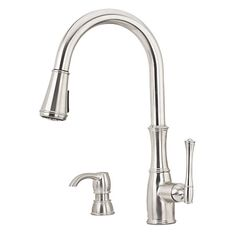 Stainless Steel Wheaton 1-Handle, Pull-Down Kitchen Faucet - F-529-7WHS | Pfister Faucets