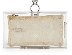 Charlotte Olympia Pandora Marry Me Box Clutch, Clear on shopstyle.com
