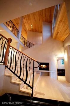 Straw built home. Eco-friendly straw built homes have such great lines and solidity due to the thickness of the walls.