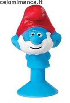 LIDL - STIKEEZ I PUFFI Viaggio nella Foresta Segreta: Fronte Figurina n. 2 Grande Puffo Lidl, Smurfs, Grande, Cards, Fictional Characters, Figurine, Maps, Fantasy Characters, Playing Cards