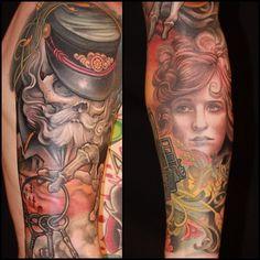 Tattoo by Jeff Gogue Dope Tattoos, Tatoos, Jeff Gogue, Off The Map Tattoo, Sick Tattoo, Beautiful Tattoos, Amazing Tattoos, Cool Tats, Flash Art