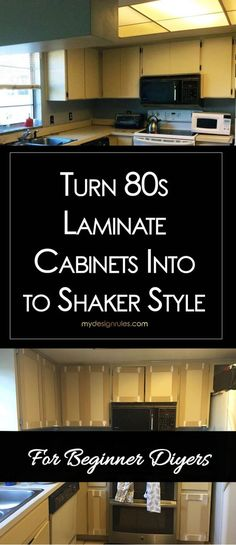 Make Shaker Kitchen Cabinet Doors on a Budget Update your laminate cabinets with classic shaker &; Make Shaker Kitchen Cabinet Doors on a Budget Update your laminate cabinets with classic shaker &; Shaker Style Cabinets, Shaker Kitchen Cabinets, Shaker Style Doors, Diy Cabinets, Kitchen Doors, Kitchen Laminate, Redo Laminate Cabinets, Laminate Cabinet Makeover, Updating Cabinets