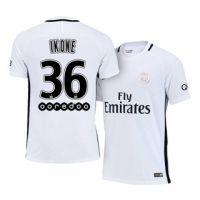 Psg Third 16 17 Season White 36 Ikone Soccer Jersey Football Shirts Soccer Jersey Psg
