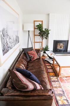 Cush and Nooks: Leather Sofa Love