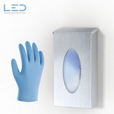 Handschuhspender Box Edelstahl, Handschuhbox gegen Covid 19 Led, Gloves, Paper Board, Stainless Steel