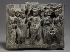 Birth of the Buddha, Kushan period  Pakistan (ancient region of Gandhara, probably Takht–i–Bahi) Stone;   6 x 7 in. (16 x 19.7 cm)