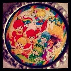 Rainbow Brite and Friends Bottle Cap Retractable ID Snap Badge Reel on Etsy, $8.55