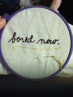 embroidery practice: Buffy quote \\