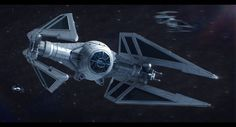 The Sienar Systems Engineering TIE/Ac (TIE Ace), advanced space superiority fighter of the Galactic Dominion (as part of the Father and Son of the Suns infinities setting). Artwork by Adam Kopala a...