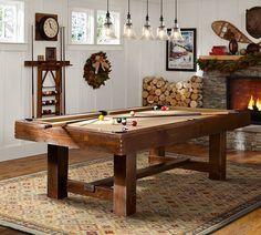 25 b sta pool tables id erna p pinterest biljardbord for Pottery barn poker table