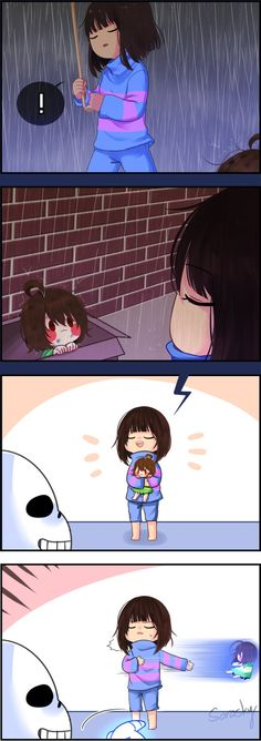frisk and chara - Frisk Find A lil Chara.