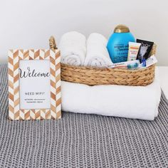 Welcome Basket: We've all forgotten an item or two while on vacation: like accidentally leaving behind a toothbrush or shampoo bottle. Amaze your guests by welcoming them with a basket full of essential toiletries.