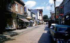 Maryland Ave in Annapolis, MD... circa 1959 Annapolis Maryland, Chesapeake Bay, Back In The Day, Old Town, Baltimore, Vintage Photos, Past, Street View, Urban