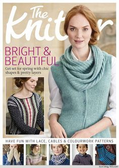 THE KNITTER 108_2017 - p.72, Victoria: 3/4 sleeve for green/black luster thread