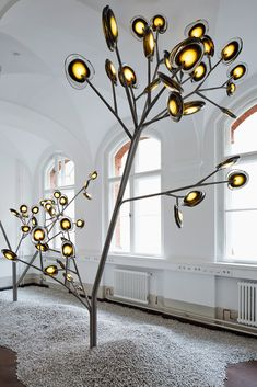 Vibrant brand Bocci has created an intriguing museum-like space of installations
