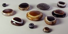 Agate beads.