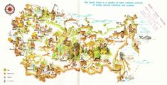 Tourist Map of Soviet Union from 1970's