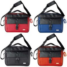 Ferraghini Notebook Bag Laptop Bag with many compartments for all your belongings and documents. Supplied with padded shoulder strap.