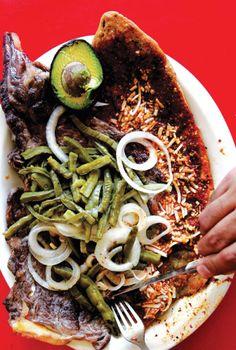 Huarache con Carne Asada (Mexico City-Style Corn Tortillas with Steak)
