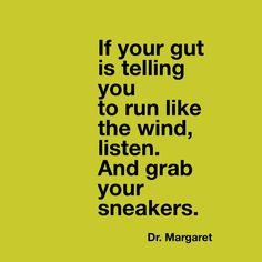 Bad relationships. We sense something wrong. And don't listen. Dr. Margaret