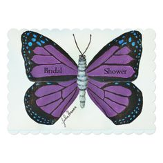 Butterfly Painting By Julia Hanna 5x7 Paper Invitation Card