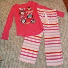 GAP Animal tee top and fleece pajama pants pjs set M 8 L 10 EUC #GapKids #PajamaSet