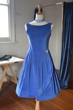 Audrey Dress- Cornflower Blue
