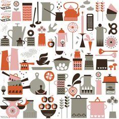 壁紙 クロス ウォールペーパー 北欧 デザイン ISAK Kaffe Wallpaper - Attic Japan | アティック ジャパン