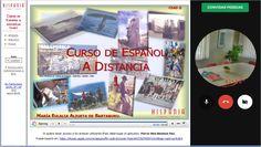 Curso de espanhol online HISPANIA, com professor ao vivo em tempo real.