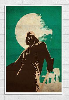 "Star Wars Darth Vader Vintage 11""X17"" Poster Print"