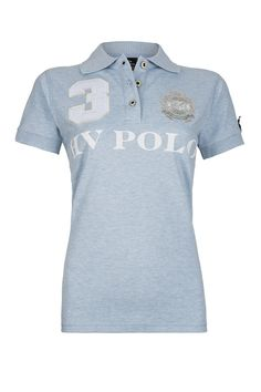 HV Polo Ladies Favouritas Eques Short Sleeve Polo. Designed with a cotton and elastane mix, this HV Polo Short Sleeve Polo is a comfortable choice for wearing when you're on or off the yard.