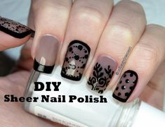 How to DIY Sheer Tint Nail Polish | 5 Designs | Прозрачный Дизайн Ногтей... #nailart