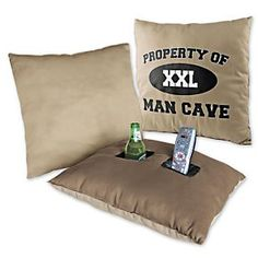 Pocket Pillow - Sofa Beverage Holder - Gifts for Man Cave | Solutions