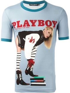 Shop Dolce & Gabbana 'Playboy' print T-shirt in Charme from the world's best independent boutiques at farfetch.com. Over 1000 designers from 300 boutiques in one website.