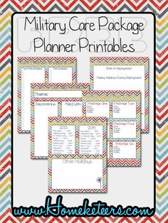 A FREE Military Care Package Planner #CarePackages #Deployment http://homeketeers.com/shop/free-printables/military-care-package-planner/