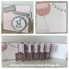 Stampin Up_Baby_Geburt_Accordeon card_Akkordeon Karte_Geburt_Maedchen_Ballon_Birth_zartrosa_Stempelfantasie