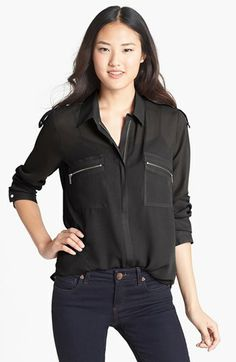 KUT from the Kloth Zip Detail Blouse | Nordstrom $46.80