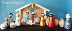 Peg Doll Nativity--I want to do this and use it in my Sunday School class!! Better than the Fisher Price Nativity Set--though my painting skills might leave a lot to be desired. :)