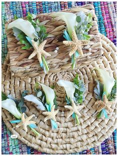 little miss lovely floral design // ocean city md beach wedding // calla lily and starfish boutonniere